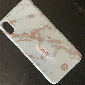 Gold marble Loopy case for iPhone XS Max